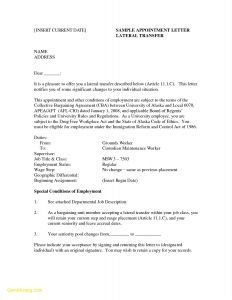 Employment Status Change Letter Template - Employee Relocation Letter Template Gallery
