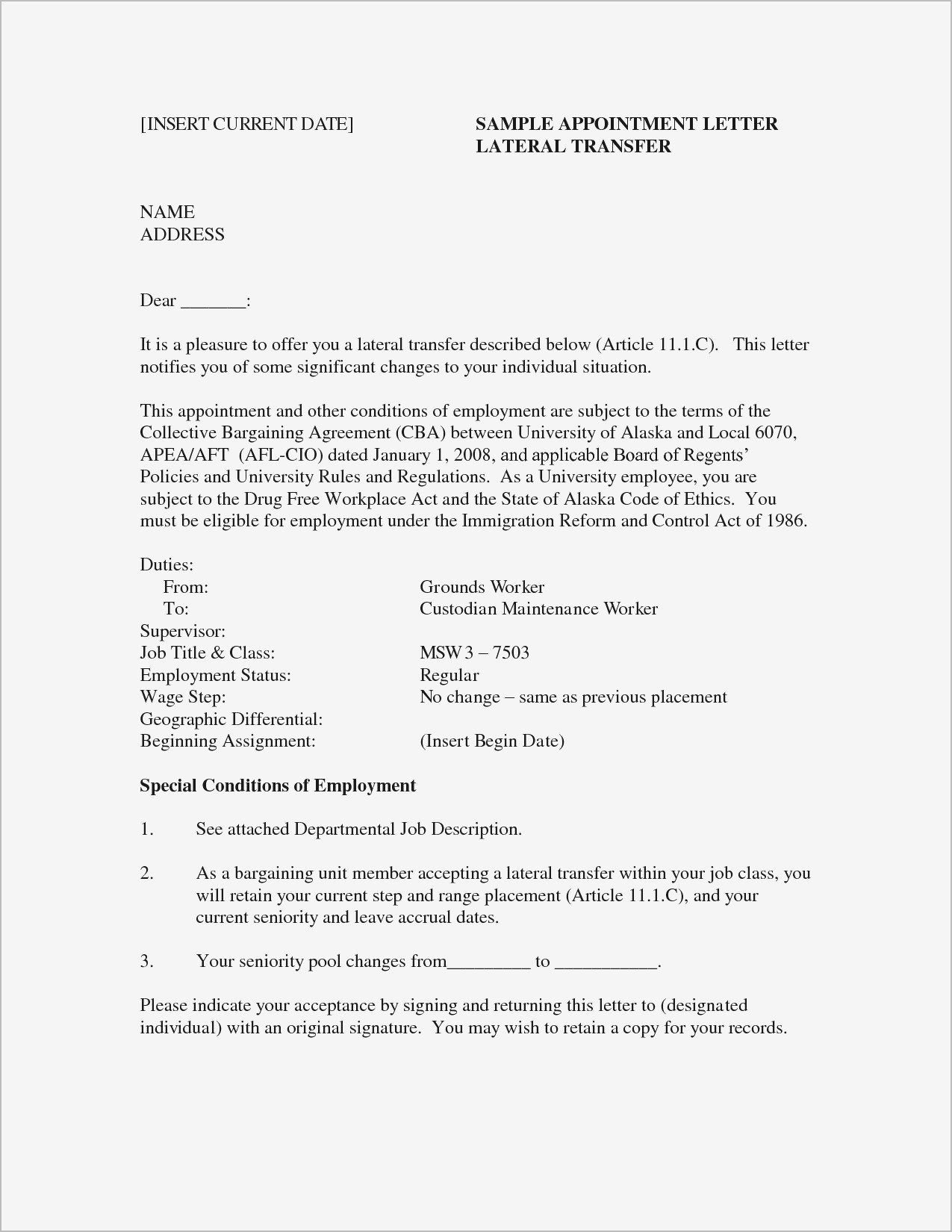 employment status change letter template Collection-Letter Employment Template Cover Letter Examples for Job Samples 18-m