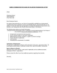 Employment Termination Letter Template Free - Voluntary Termination Letter Inspirationa Severance Letter Template
