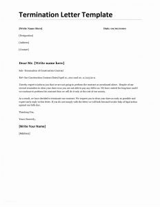 Employment Termination Letter Template Free - Free Termination Letter Templates Employee Fresh Service Contract