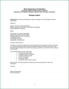 Employment Verification Letter Template - Confirmation Employment Letter Template Sample