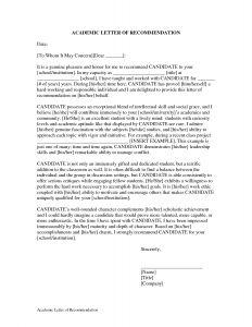 Endorsement Letter Template - Academic Excellence Letter Of Re Mendation Google Search