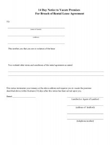 Eviction Letter Template Free - Free Tenant Eviction Letter Template Examples