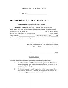 Executor Of Estate Letter Template - Letter Template – Page 3 – Infoe Link