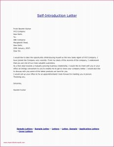 Exemption Letter Template - Letter Template Introduction Cover Letter Intro Unique