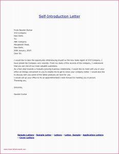 Exemption Letter Template - Letter Template Introduction Cover Letter Intro Unique