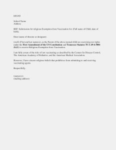 Exemption Letter Template - Vaccination Exemption Letter Sample Nj 2017