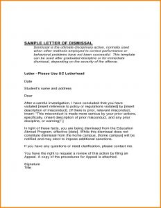 Expulsion Appeal Letter Template - Dismissal Letter Template Collection