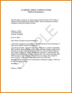 Expulsion Appeal Letter Template - Sample Letters for Academic Appeal Save Academic Appeal Letter