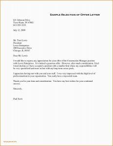 Fake Job Offer Letter Template - Thanks Letter format for Job Fer Rescind Job Fer Letter Lovely How