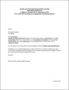 Fake Job Offer Letter Template - Work Fer Letter