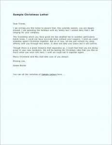 Family Christmas Letter Template - Christmas Letter Sample Clients Best Sample Christmas Letter to