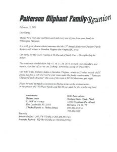 Family Reunion Welcome Letter Template - Family Reunion Letter to Members Wel E Template