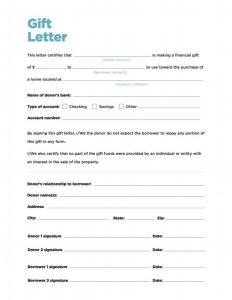 Fha Gift Letter Template - Free Gift Letter Templates Save Free Cash Gift Letter atnova