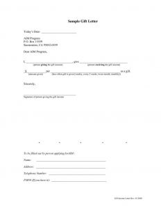 Fha Gift Letter Template - Fha Down Payment T