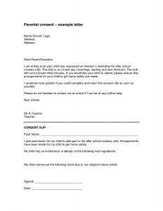 Field Trip Template Permission Letter - Parental Consent Permission Letter Template Examples