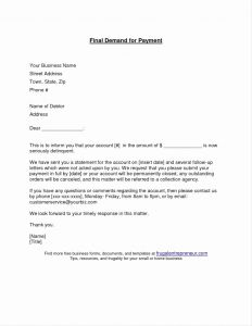Final Demand Letter Template - Rent Demand Letter Template Ksdharshan