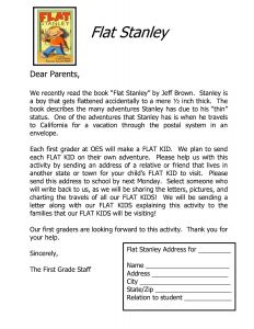 Flat Stanley Letter Template - Flat Stanley Letter Template Downloadable Flat Stanley Letter