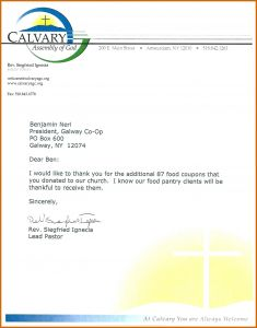 Food Donation Request Letter Template - Food Bank Donation Request Letter