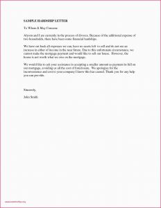 Foreclosure Letter Template - Us Bank Hardship Letter Hardship Letter for Job Transfer