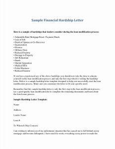 Foreclosure Letter Template - 14 Elegant Mortgage Hardship Letter Land Of Template