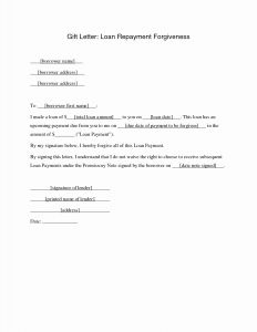 Forgiveness Letter Template - Student Loan forgiveness Letter Template Gallery