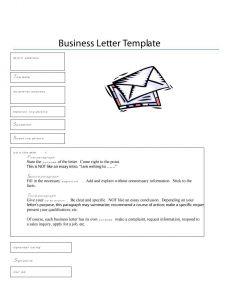 Formal Business Letter format Template - formal Business Letter format Templates Sample Example Template