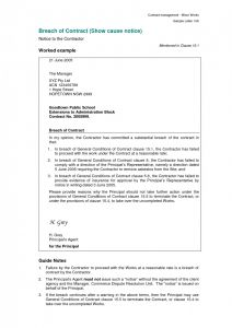 Free Breach Of Contract Letter Template - Free Breach Of Contract Letter Template