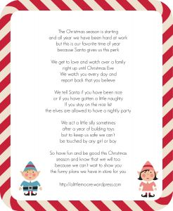 Free Elf On the Shelf Letter Template - Santa Report Template