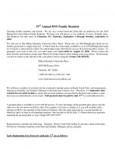 Free Family Reunion Letter Template - Sample Family Reunion Introduction Letter