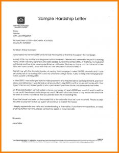 Free Hardship Letter Template - Short Sale Hardship Letter Template Collection