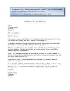 Free Hardship Letter Template - Financial Hardship Letter Template Gallery