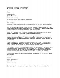 Free Hardship Letter Template - Letter to Creditor Unemployed Refrence Free Letter Templates to