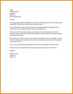 Free Hardship Letter Template - Financial Hardship Letter Template Fresh Sample Business Thank You