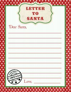 Free Printable Letter From Santa Template - Letter to Santa Free Printable Download Fixes Pinterest