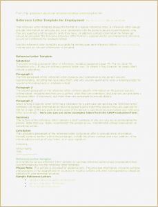 Free Reference Letter Template for Employment - Character Letter Re Mendation Free Download Personal Re