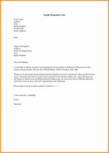 Free Sample Resignation Letter Template - Resignation Letter Template Free Fresh Resignation Letter Templates