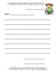 Friendly Letter Template First Grade - 1st Grade Letter Writing