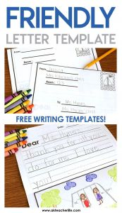 Friendly Letter Template for Kids - Friendly Letter Writing Paper A Kinderteacher Life