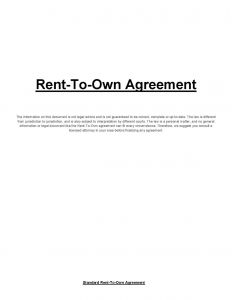 Fsbo Offer Letter Template - Lease Purchase Contract