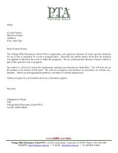 Fundraiser Letter Template - Pta Fundraising Letter Template Examples