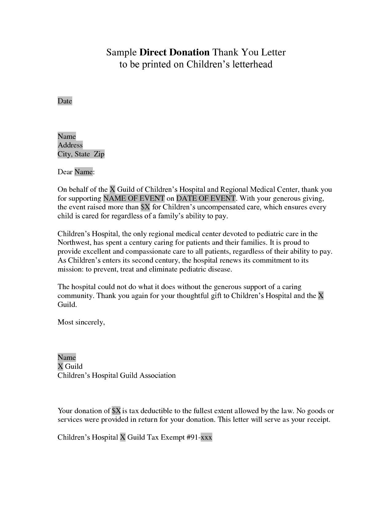 fundraiser letter template example-donation letter template for fundraiser donor thank you letter sample 9c 12-a
