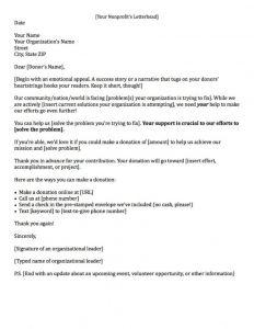 Fundraising Donation Letter Template - Sample Fundraising Letter – Emmamcintyrephotography