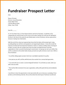 Fundraising Request Letter Template - Fundraiser Proposal Letter Template Sample