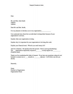 Fundraising Request Letter Template - Charity Letter Template asking for Donations Examples