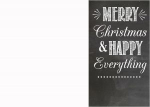 Funny Christmas Letter Template - Free Chalkboard Christmas Card Templates Paper Crafts