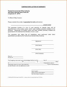 General Contractor Warranty Letter Template - General Contractor Warranty Letter Template Gallery