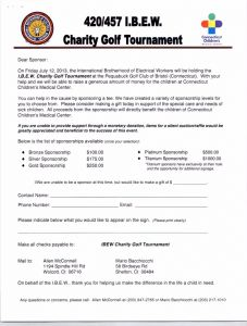 Golf tournament Sponsorship Letter Template - Charity Golf tournament Invitation Letter