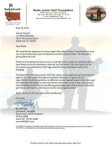 Golf tournament Sponsorship Letter Template - Golf tournament Donation Letter Template Download
