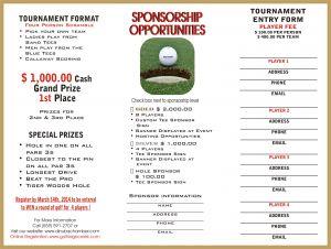 Golf tournament Sponsorship Letter Template - Player Sponsorship Letter